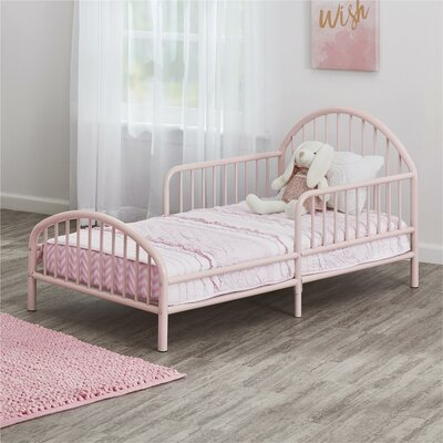 Prism Metal Toddler Bed Color: Pink