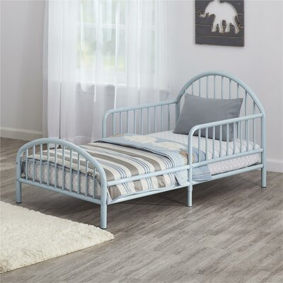 Prism Metal Toddler Bed Color: Blue