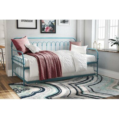 Bright Pop Metal Daybed with Trundle Color: Turquoise