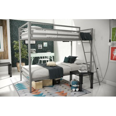 Maxwell Metal Bunk Bed Color: Gray
