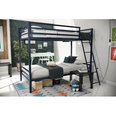 Maxwell Metal Bunk Bed Color: Navy Blue