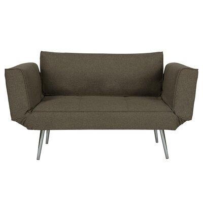 Euro Convertible Sofa Upholstery: Gray