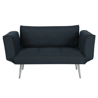 Euro Convertible Sofa Upholstery: Navy Blue