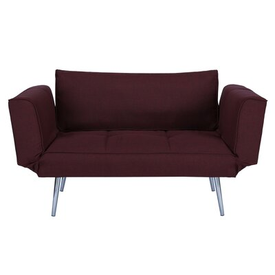 Euro Convertible Sofa Upholstery: Berry
