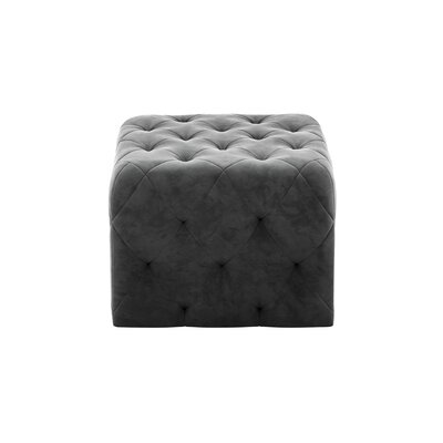 Tufted Ottoman Upholstery: Gray