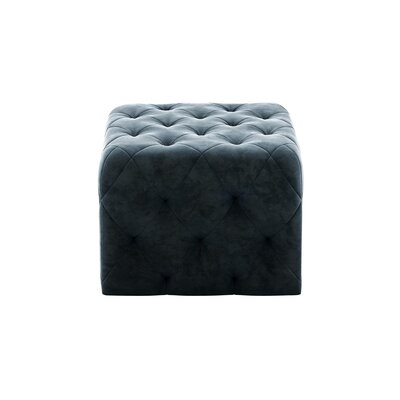 Cube Ottoman Upholstery: Blue