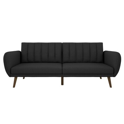 Brittany Convertible Sofa Upholstery: Dark Gray