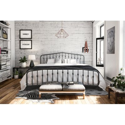 Bushwick Platform Bed Size: King, Color: Gray
