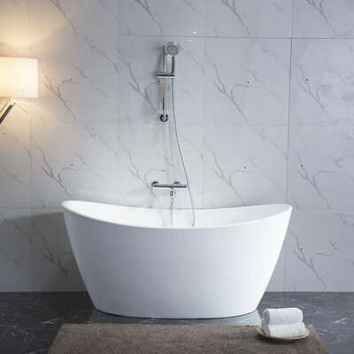 Maya 27 x 67 Freestanding Soaking Bathtub