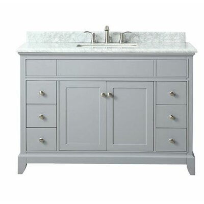 Bhushan Marble Top 49 Single Bathroom Vanity Set