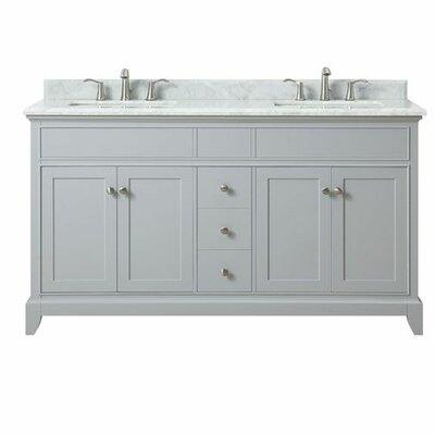 Bhushan Marble Top 61 Double Bathroom Vanity Set
