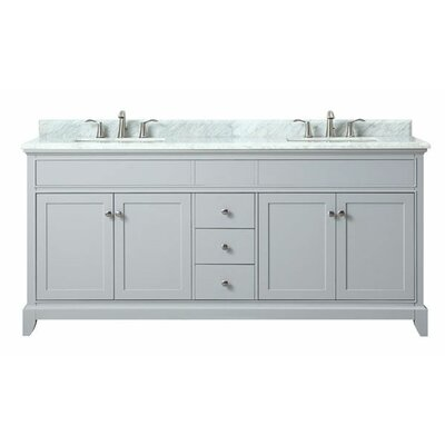 Bhushan Marble Top 73 Double Bathroom Vanity Set
