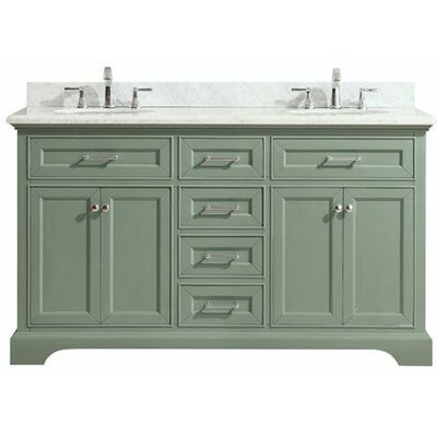Valentia Marble Top 61 Double Bathroom Vanity Set