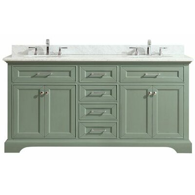Valentia Marble Top 73 Double Bathroom Vanity Set