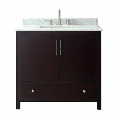 Pergamon Marble Top 37 Single Bathroom Vanity Set
