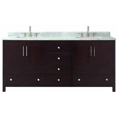 Pergamon Marble Top 73 Double Bathroom Vanity Set