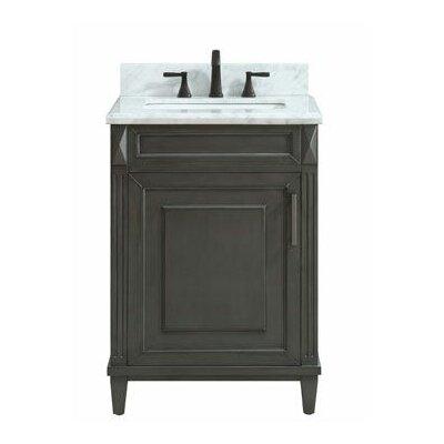 Potvin Marble Top 25 Single Bathroom Vanity Set
