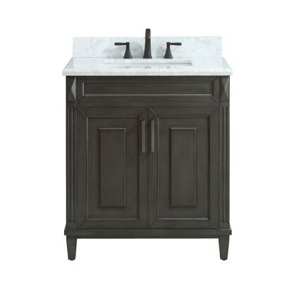 Potvin Marble Top 31 Single Bathroom Vanity Set