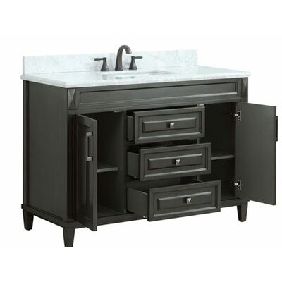 Potvin Marble Top 49 Single Bathroom Vanity Set
