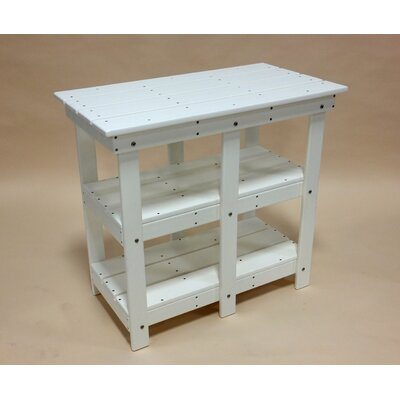 Adirondack Buffet Table with Shelf Finish: White