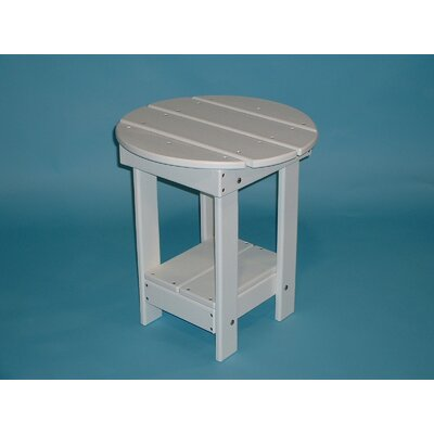 Adirondack Round Side Table Finish: White