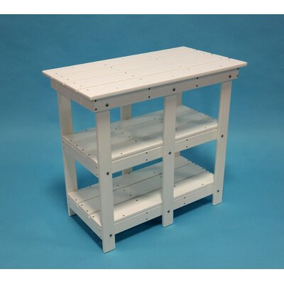 Adirondack Buffet Table with Shelf Finish: Green