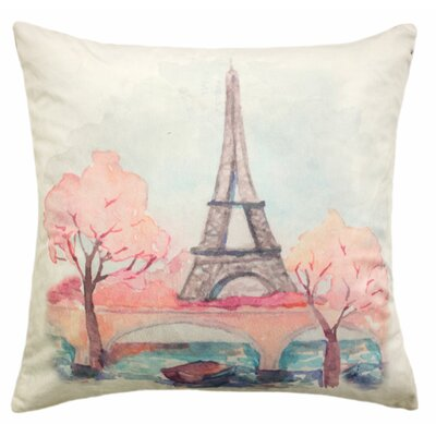Molly Bee Paris Painted Throw Pillow