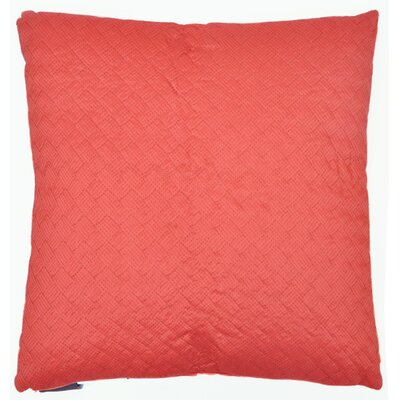 Herringbone Throw Pillow Color: Coral