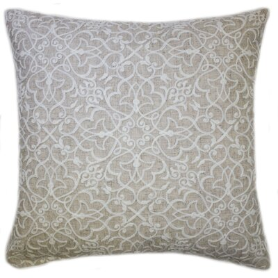 Rylie Embroidered Throw Pillow Color: Natural