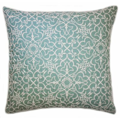 Rylie Embroidered Throw Pillow Color: Sea Foam