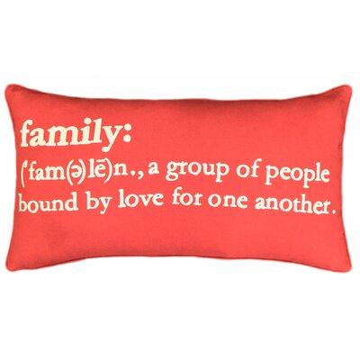 Embroidered Family Lumbar Pillow