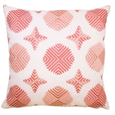 Geo Satin Stitch Embroidered Decorative Throw Pillow Color: Blush