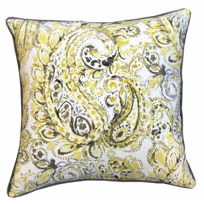 Paisley Marigold Decorative 100% Cotton Throw Pillow