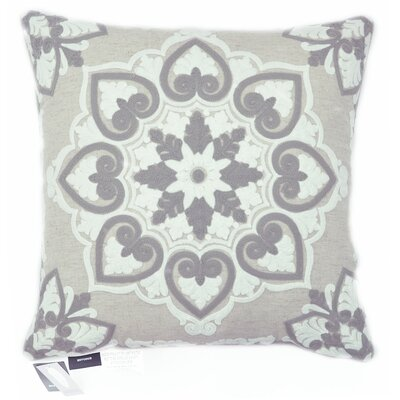Snowflake Damask Embroidered Chain Stitch Decorative Throw Pillow