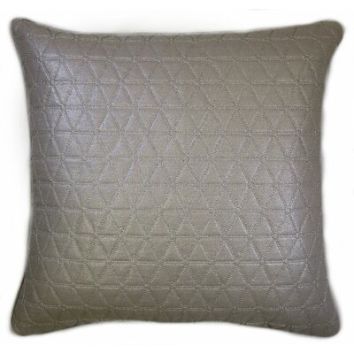 Triangle Quilted Foil Decorative Throw Pillow Color: Silver