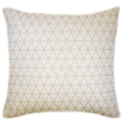 Triangle Quilted Foil Decorative Throw Pillow Color: Natural