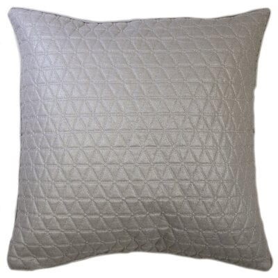 Triangle Quilted Foil Decorative Euro Pillow Color: Silver