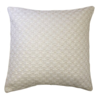 Triangle Quilted Foil Decorative Euro Pillow Color: Beige