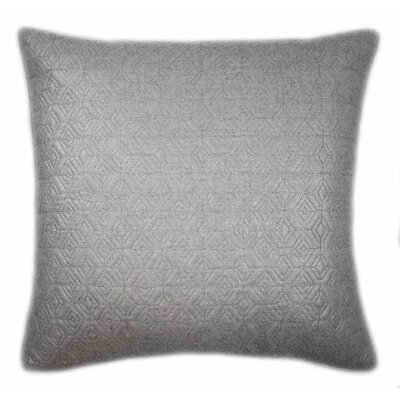 Diamond Quilted Foil Decorative Throw Pillow Color: Silver