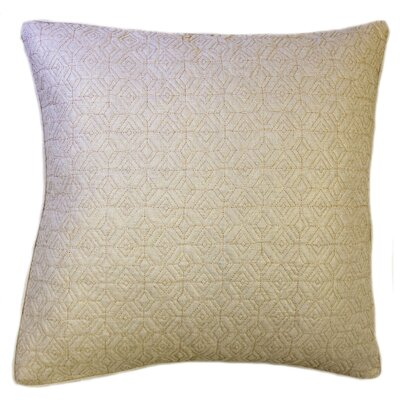Diamond Quilted Foil Decorative Throw Pillow Color: Gold