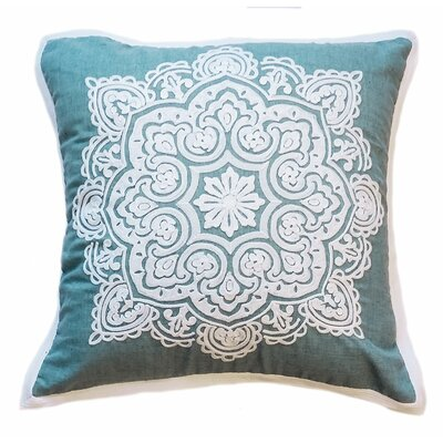 Tile Luna Embroidered Chain Stitch Decorative Throw Pillow