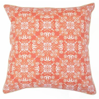 Campbell Damask Burst CottonThrow Pillow