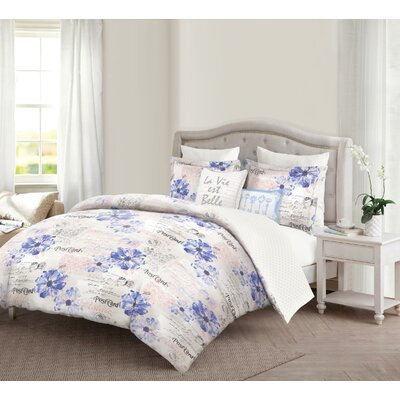 Rabia Reversible Comforter Set Size: Queen