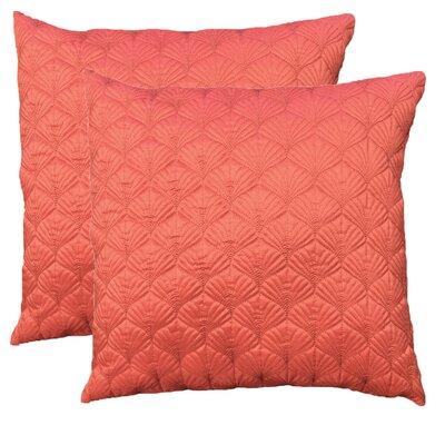 Throw Pillow Color: Coral