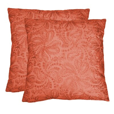 Throw Pillow Color: Auburn 1101764SPICC