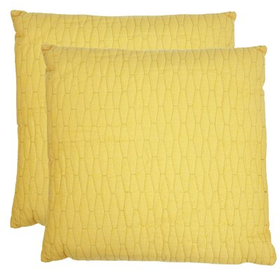 Geo Throw Pillow Color: Marigold