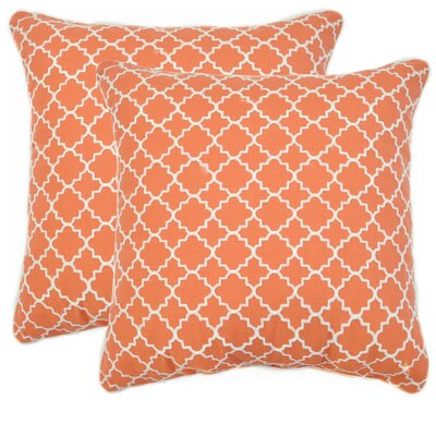 Trellis Throw Pillow Color: Coral