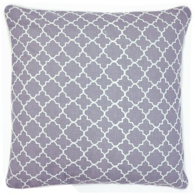 Engelmann Embroidered Throw Pillow Color: Gray