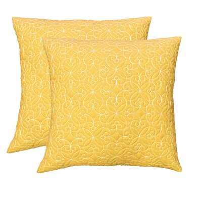 Throw Pillow Color: Marigold 1101771YARRO