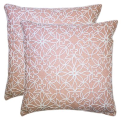 Quilted Embroidered Blossoms Throw Pillow Color: Blush